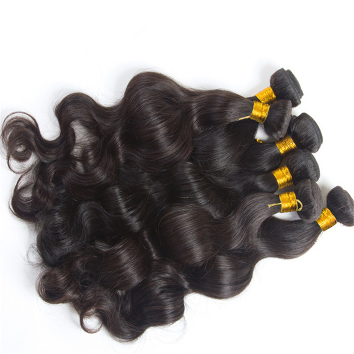 Brazilian Virgin Hair Weave Body Wave Natural Color Off Black 1b