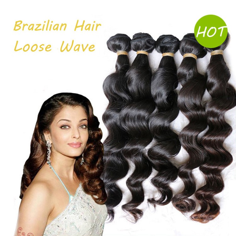 Loose Wave Natural Unprocessed Brazilian Remy Virgin Hair Weft