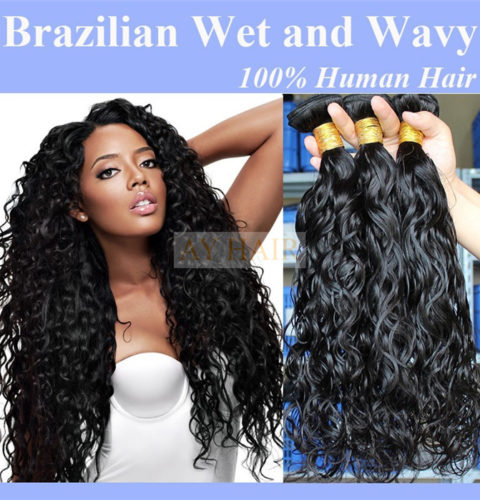 Brazilian virgin hair wholesale hair weave factory natural black color popular style wet and wavy peruvian virgin remy human hair weave extension pmusecretfo Images