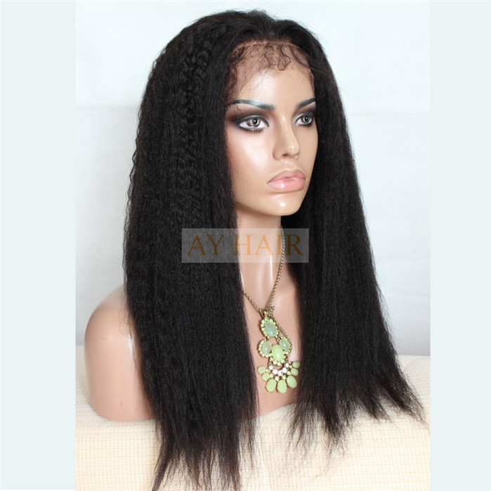 Full Lace wig Kinky straight 01