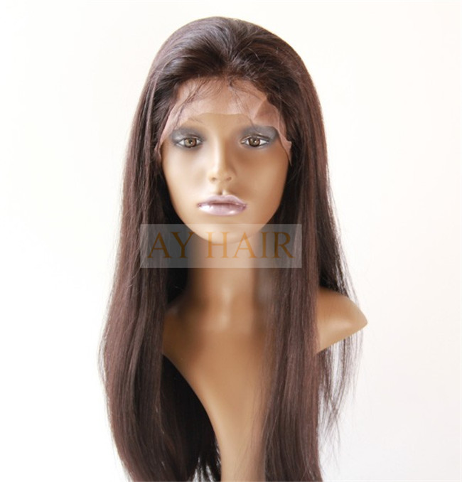 Full lace wig silky striaght natural black color (1)