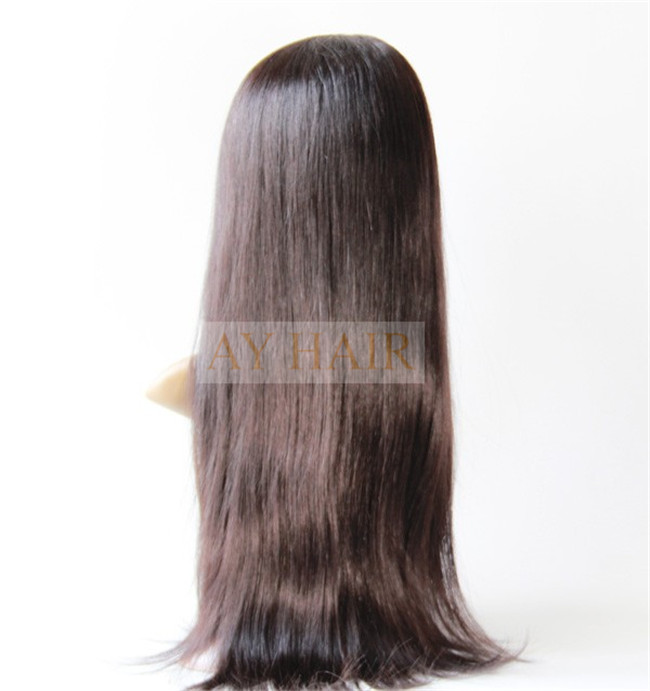 Full lace wig silky striaght natural black color (2)