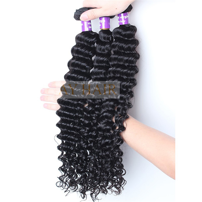 Ay Hair Products Indian Deep Wave Unprocessed Human Hair Weave Best