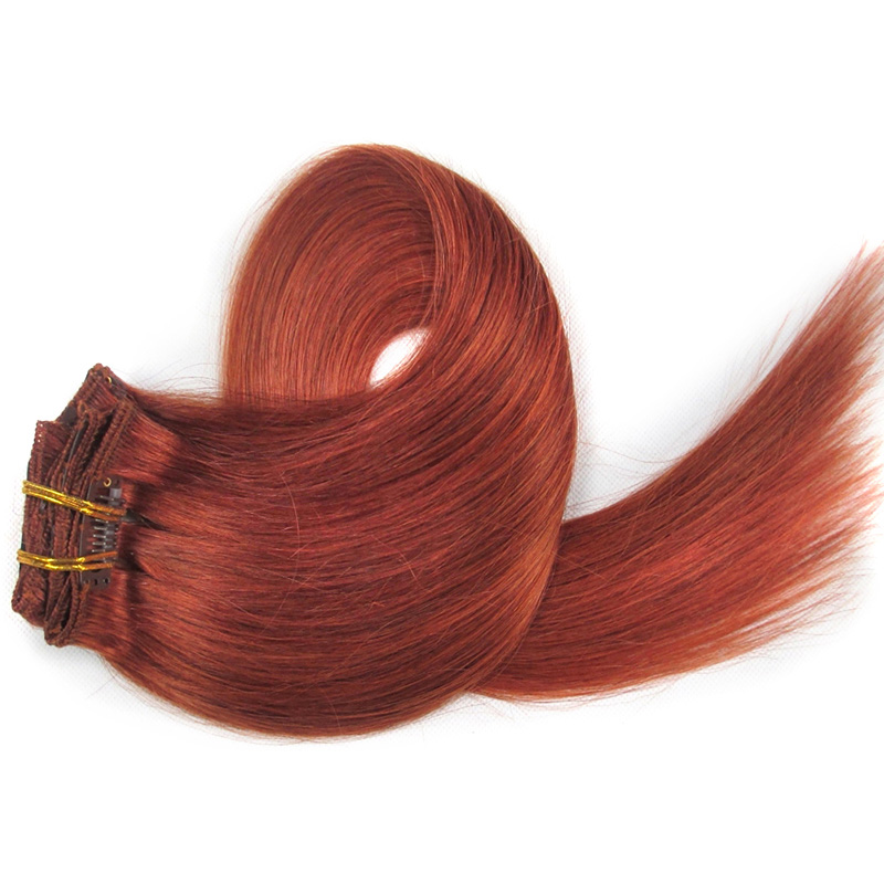 100 Virgin Human Hair Clip In Hair Weave Extensions Wholesale Price